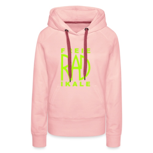 Freie RADikale Logo Gruen - Frauen Premium Hoodie