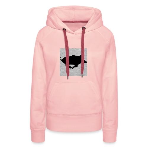 Sanglier - Sweat-shirt à capuche Premium pour femmes