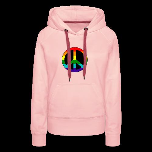 Gay pride peace symbool in regenboog kleuren - Vrouwen Premium hoodie