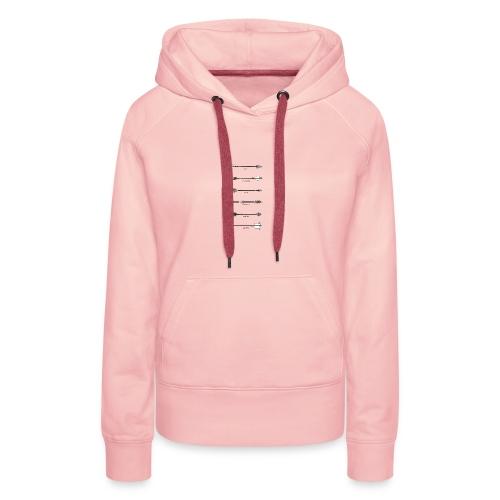 arrow style - Sweat-shirt à capuche Premium pour femmes
