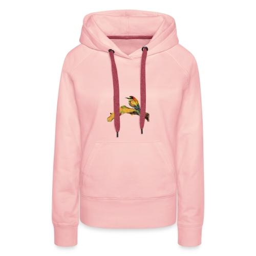 Uccellino - Felpa con cappuccio premium da donna