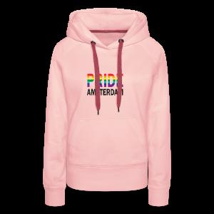 Pride Amsterdam in regenboog kleur en zwart - Vrouwen Premium hoodie
