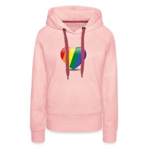 Regenboog hart - Vrouwen Premium hoodie