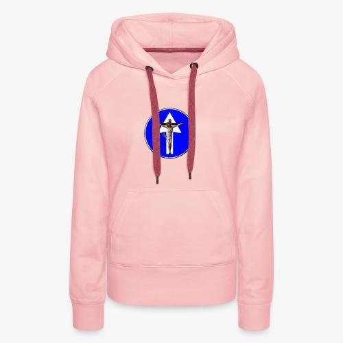 Gesù - Felpa con cappuccio premium da donna