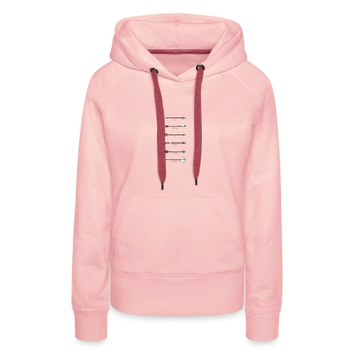 arrow style - Sweat-shirt à capuche Premium pour femmes