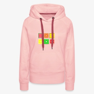 DIGITAL FRUITS - Pixel Frucht - Frauen Premium Hoodie