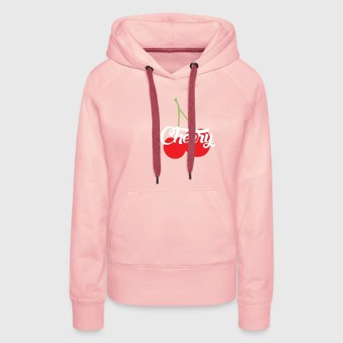Cherry - Sweat-shirt à capuche Premium pour femmes