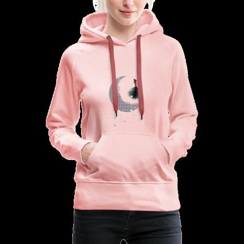 lune - Sweat-shirt à capuche Premium pour femmes
