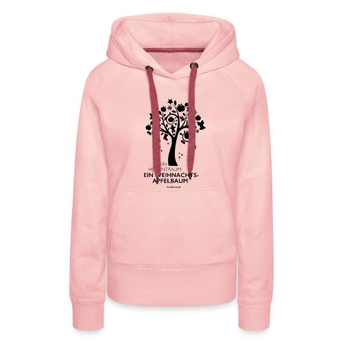 Weihnachtsapfelbaum klassisch, schwarz - Frauen Premium Hoodie