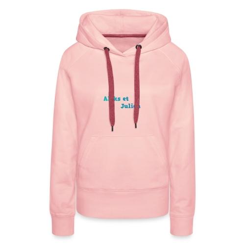 Notre logo - Sweat-shirt à capuche Premium pour femmes