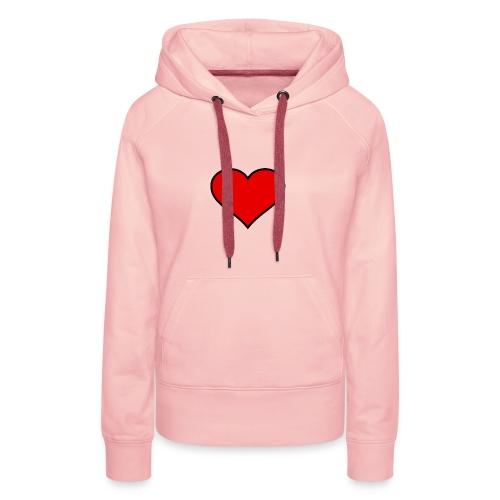 big heart clipart 3 - Premiumluvtröja dam