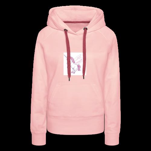Petite licorne rose super mignonne!! - Sweat-shirt à capuche Premium pour femmes