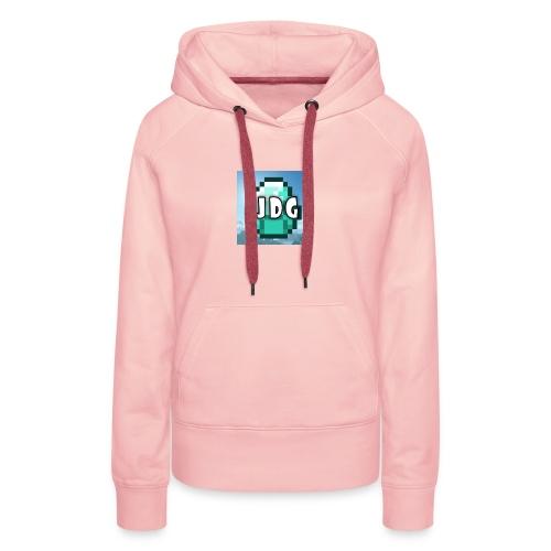 Oranje T-shirt met logo JoramDijkGames - Vrouwen Premium hoodie