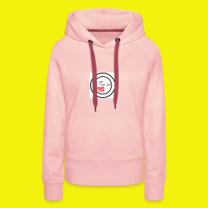 1We are having a baby girl - Sudadera con capucha premium para mujer