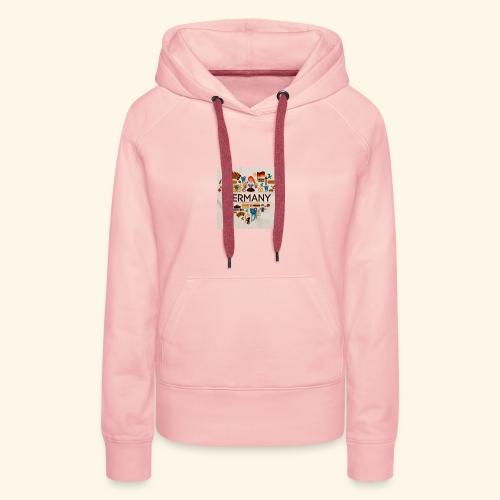Deutschland - Sweat-shirt à capuche Premium pour femmes