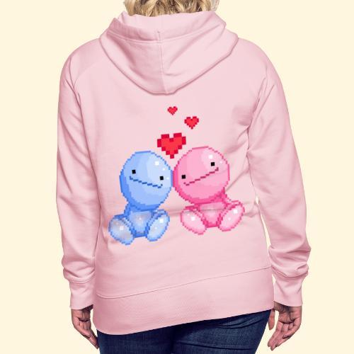 Nohohon amoureux de la Saint Valentin - Sweat-shirt à capuche Premium pour femmes