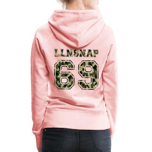 LLNsnap 69 (camo) - Sweat-shirt à capuche Premium pour femmes