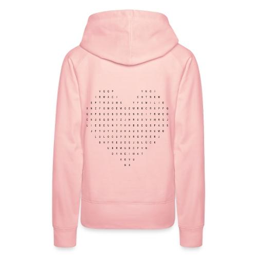 Wortsuchspiel Herz - Frauen Premium Hoodie