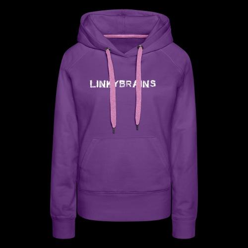linkybrainswhitetext - Women's Premium Hoodie