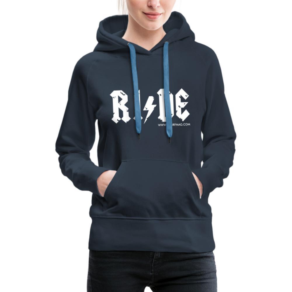 RIDE - Women's Premium Hoodie - navy