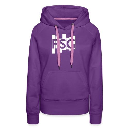 FSG Logo weiß - Frauen Premium Hoodie