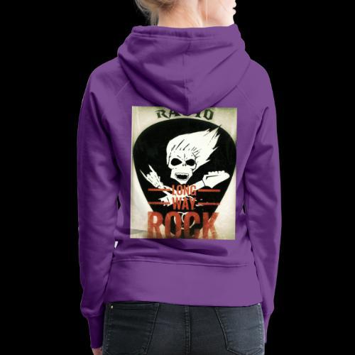 Radio Long Way Rock - Sweat-shirt à capuche Premium pour femmes