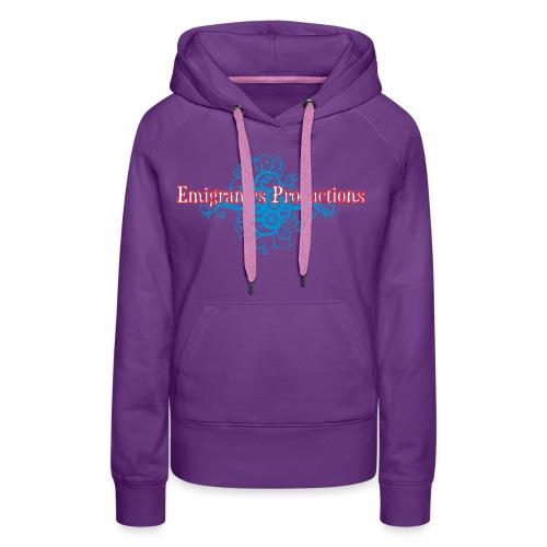 Emigrantes Productions logo SVG 3 couleurs - Sweat-shirt à capuche Premium pour femmes