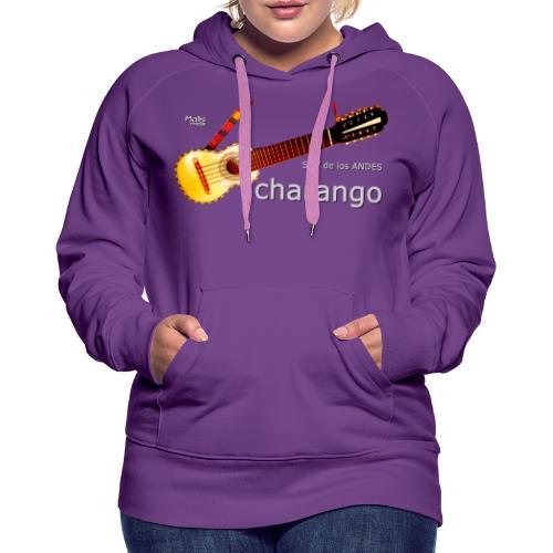 De los ANDES - Charango II - Sudadera con capucha premium para mujer