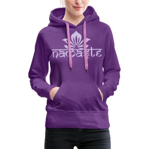 Namaste Lotus Yoga Motiv in Trendfarben MEGA - Frauen Premium Hoodie
