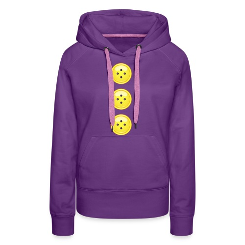 3 gelbe Knöpfe Knopf Buttons modische Accessoires - Women's Premium Hoodie