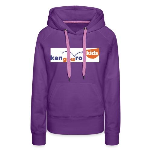KangourouKids Logo Q HD jpg - Sweat-shirt à capuche Premium pour femmes