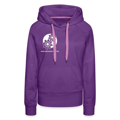 Treff Logo mit URL - Frauen Premium Hoodie