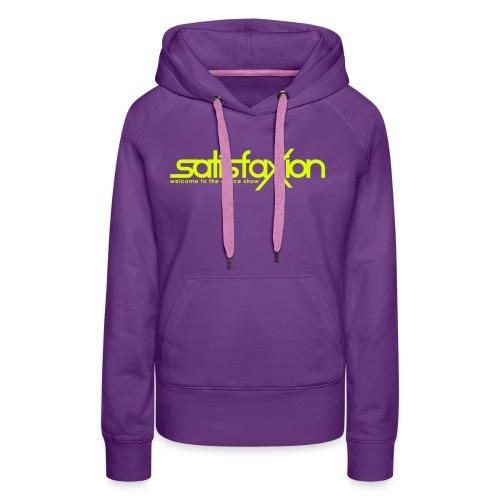 SatisfaXion Wear - Sudadera con capucha premium para mujer