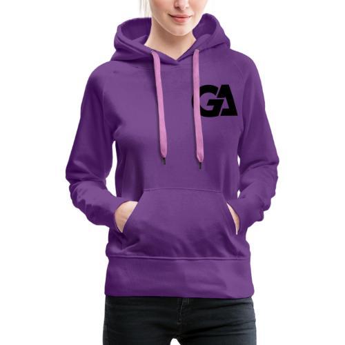 GA Zwart Logo Merch - Vrouwen Premium hoodie