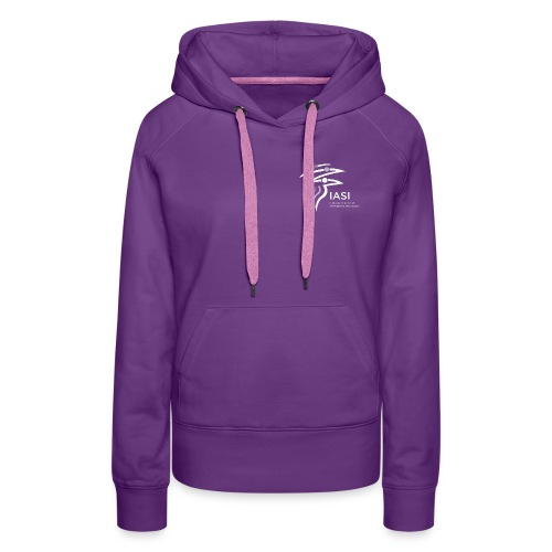 skiers-with-text - Women's Premium Hoodie