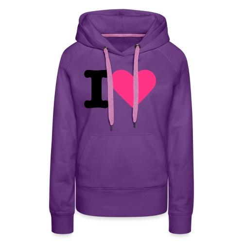 Ik hou - Vrouwen Premium hoodie