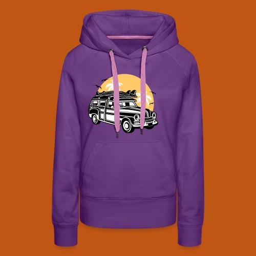Chevy Cadilac Woodie / Oldtimer Kombi 01_3c - Frauen Premium Hoodie