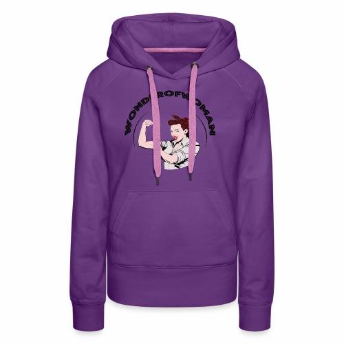WonderOfWoman - Sweat-shirt à capuche Premium pour femmes