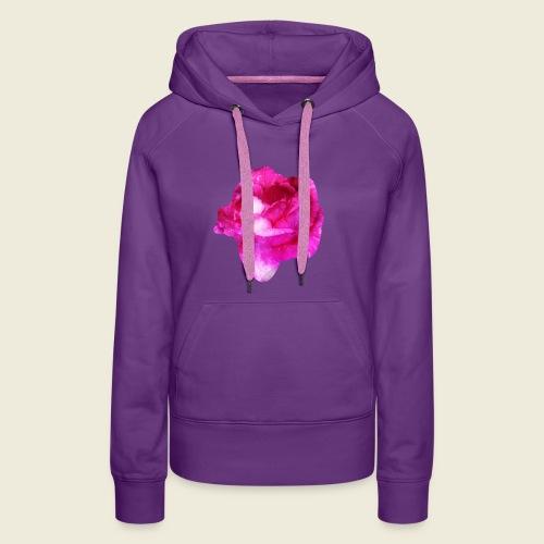 Zauberhafte pinke Rose - Frauen Premium Hoodie