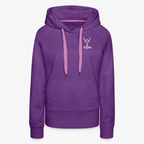 iYpsilon Logo vorne, Yoga hinten - Frauen Premium Hoodie