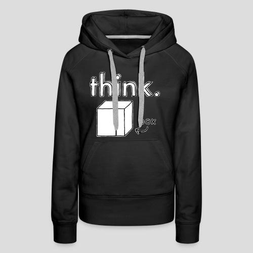 Think Outside The Box Illustration - Women's Premium Hoodie