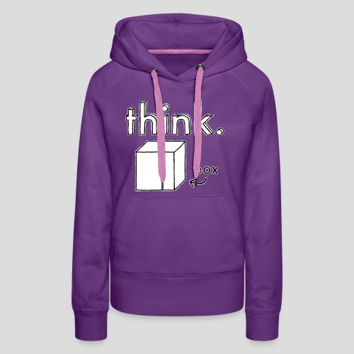 Think Outside The Box Illustration - Women's Premium Hoodie