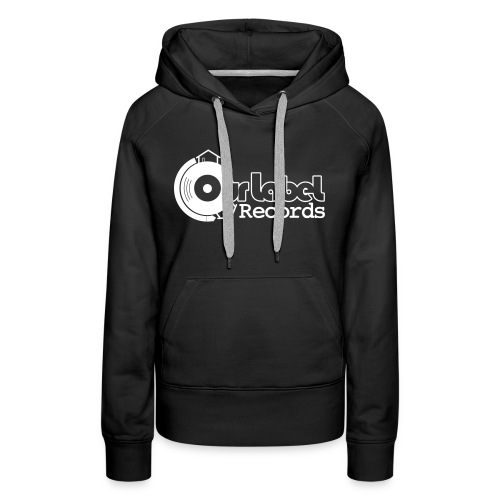OurLabelRecords black outlines - Women's Premium Hoodie