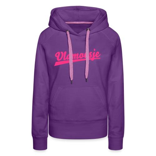 vlamoesje clean - Vrouwen Premium hoodie