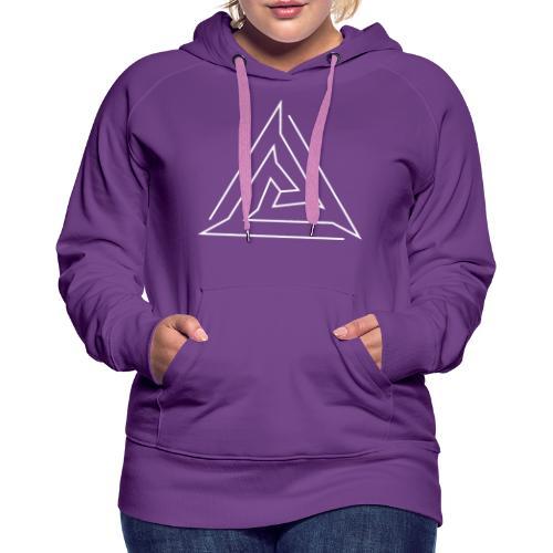 Hoodie Eaven Geometric - Triangle 2 Foncé Femme - Sweat-shirt à capuche Premium pour femmes