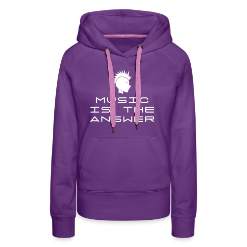 Mohawk Logo - Music is the Answer - Women's Premium Hoodie