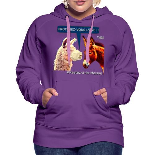 PROTEGEZ-VOUS L'ÂNE !! - Coronavirus - Sweat-shirt à capuche Premium pour femmes
