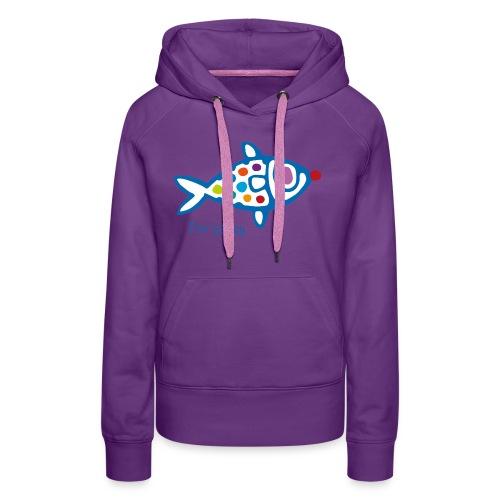poisson HAppy - Sweat-shirt à capuche Premium pour femmes