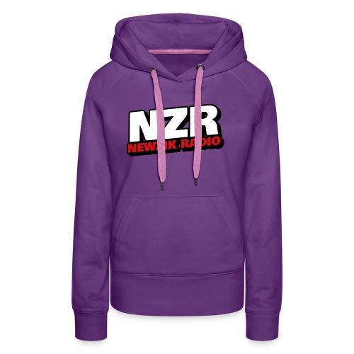 NewZikRadio Logo basic full - Sweat-shirt à capuche Premium pour femmes