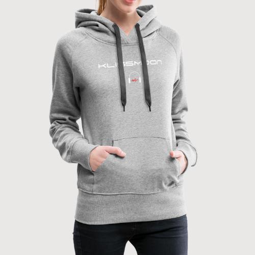 Klissmoon Logo white - Women's Premium Hoodie